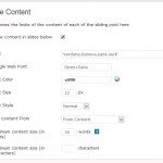 Content style customization from settings page