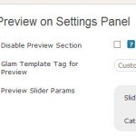 Preview options on Slider's settings page