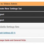 Create and manage Settings, Import and Export Settings as well