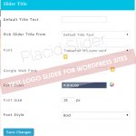Add and customize Placid Slider Title