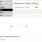 Enable Responsive Design by Single Click, Import Settings panel