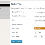 Slider Title customization options, Almost 100% customization available from settings panel