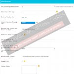 Advance options under Miscellaneous section