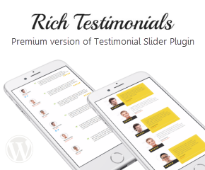 Rich Testimonials - Premium version of Testimonial Slider