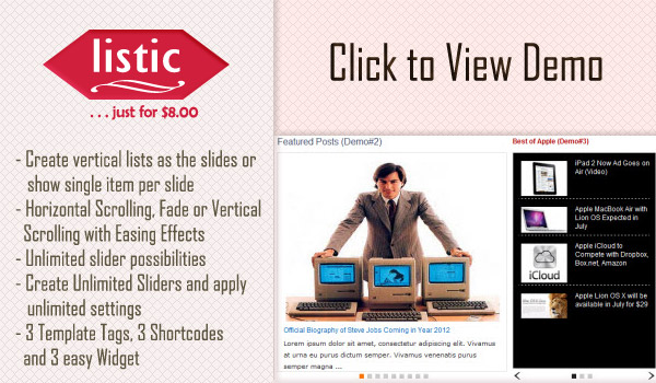 Listic Slider WordPress Plugin