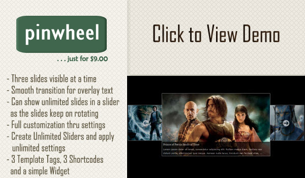 Pinwheel Slider WordPress Plugin