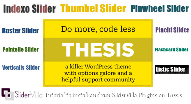 SliderVilla Tutorial for Thesis Framework