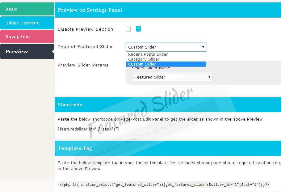 Get Featured Image Blocks as Slider in WordPress
